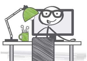 Schreibtisch, Arbeitsplatz, büro